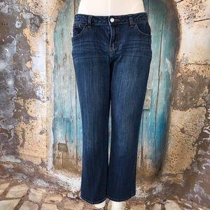 Jennifer Lopez-Dark Wash Crop Jeans